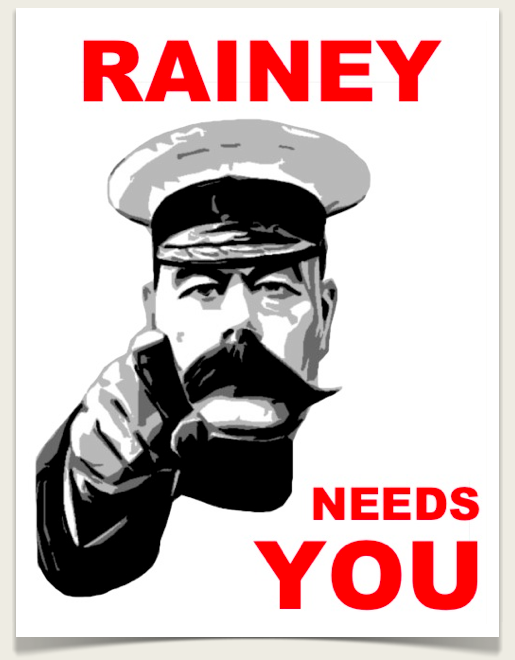 rainey needs you poster