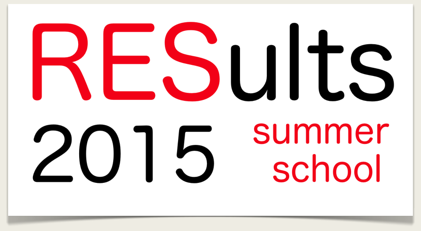 RESults 2015 Summer School framed