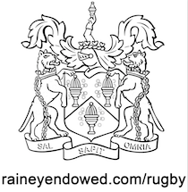 black crest with raineyendowed.com:rugby